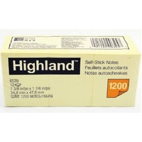 HIGHLAND POST IT 35X47MM YELLOW
