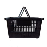 LARGE SHOPPING BASKET BLACK