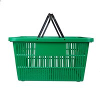 LARGE SHOPPING BASKET GREEN