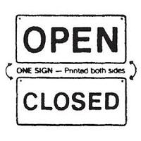 SIGN OPEN/CLOSED DOUBLE SIDED A4