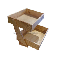 2-TIER WOODEN COUNTER STAND 430X400MM