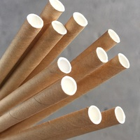 PAPER STRAWS REGULAR KRAFT BROWN