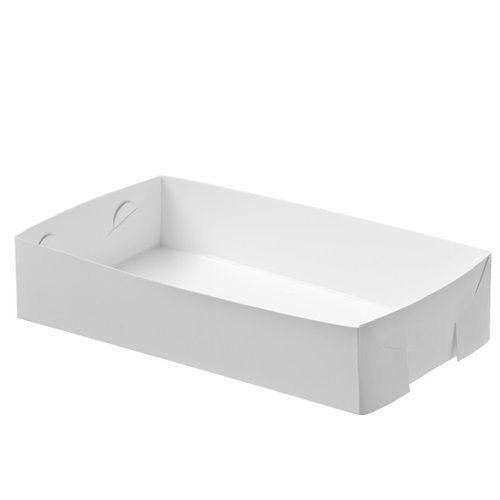 CT24 CAKE TRAY WHITE 175X255MM