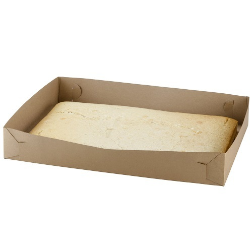 CT24 CAKE TRAY BROWN 175X255MM