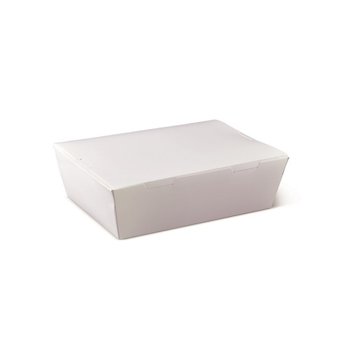 LUNCH BOX WHITE LARGE 190X140X65MM