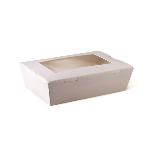 WINDOW LUNCH BOX MED WHITE 180X120X50