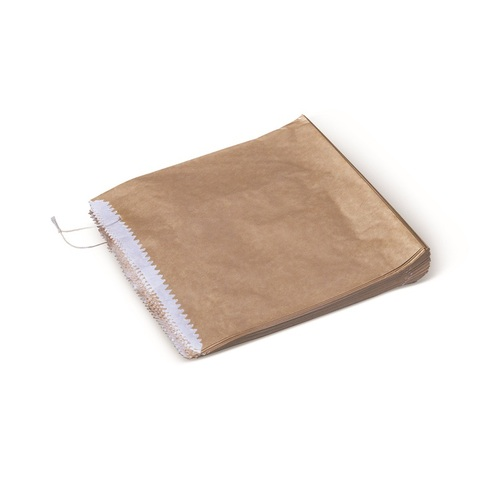 PAPER BAG BROWN 2 SQU GREASEPROOF LINED