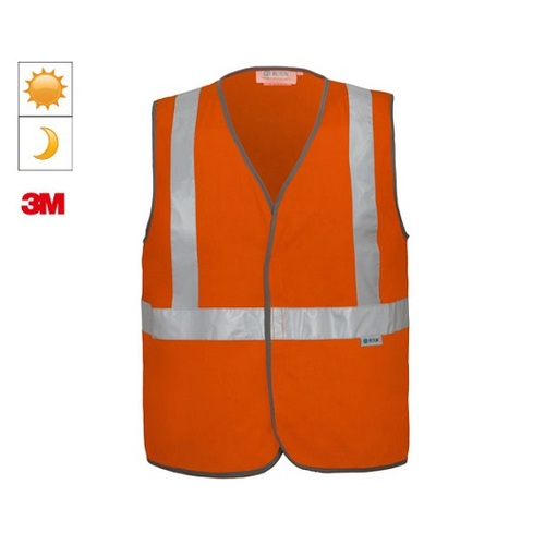 SAFETY VEST NIGHT/DAY ORANGE XL