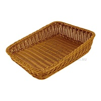 POLYWICKER BASKET NATURAL 300X400X50MM