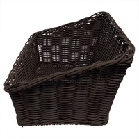 POLYWICKER BASKET DARK SLANT 480X340X260