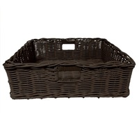 POLY BASKET DARK W/HANDLES 500X400X160MM