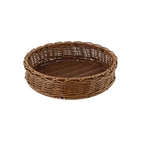 POLYWICKER BASKET ROUND EARTH 400MM