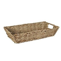 SEAGRASS TRAY RECT 18X33X9 NATURAL