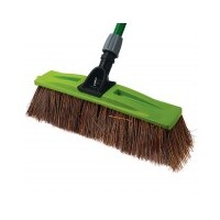 INDUST BROOM+HANDLE 600MM MIXED BRISTLE
