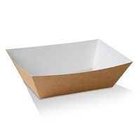 UNCOATED PAPER FOOD TRAY #5 110X185X80MM