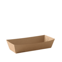 UNCOATED HOTDOG TRAY BROWN 190X70X50MM