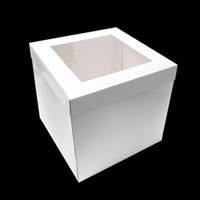 "CAKE BOX WHITE 12X12X12"" TALL WINDOW PK5"