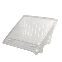 SANDWICH WEDGE QUARTER HINGED CLEAR