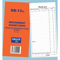 DB-13CL DOCKET RESTAURANT TRIP C'LESS
