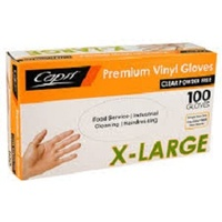 GLOVE VINYL POWDER FREE EXTRA LARGE