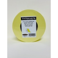 LABEL BLANK 75X110MM YELLOW - 100M ROLL