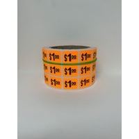 LABEL 20X25 ORANGE $1.00