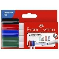 FABER MARKER WHITEBOARD 4 ASSORTED