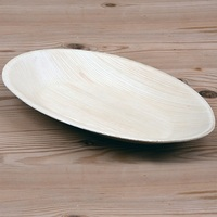 PALM LEAF PLATE OVAL LARGE 260MM
