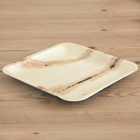 PALM LEAF PLATE SQUARE LARGE 250MM