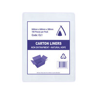 CARTON LINER CLEAR 640X640X390