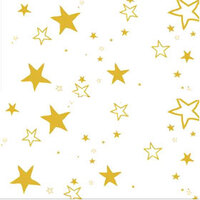 PLASTIC TABLECLOTH RECTANGLE GOLD STARS