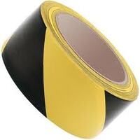 HAZARD TAPE BLACK/YELLOW 48MM