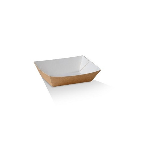 UNCOATED PAPER FOOD TRAY #1 95X55X35MMM