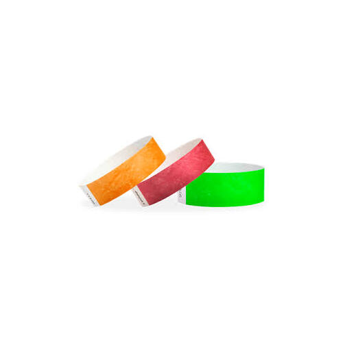 WRISTBANDS ALPEN FLURO GREEN PACK100