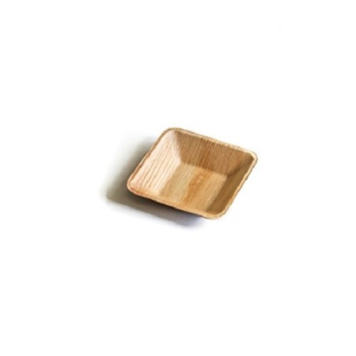 PALM LEAF SQUARE DIP BOWL 75MM